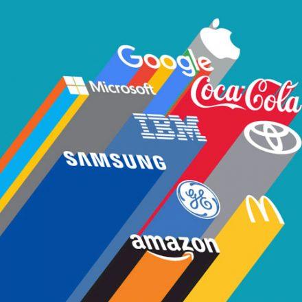 Evolución histórica de las 15 marcas líderes en el mundo