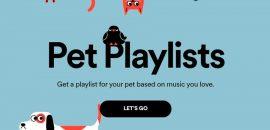 Spotify crea una lista de reproducción especial para tus mascotas