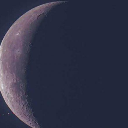 Captan ocultación lunar de marte en Cozumel, un fenómeno poco común