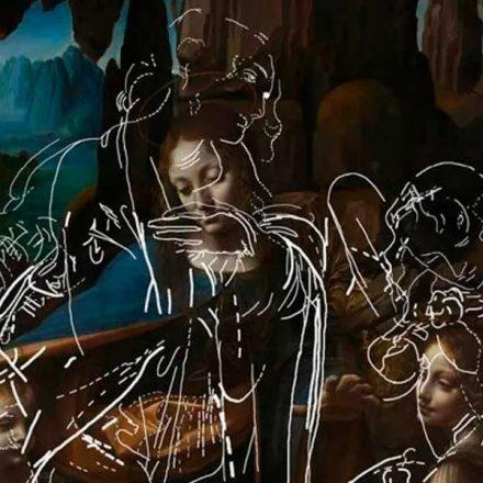 Algoritmo revela bocetos ocultos en pintura de DaVinci