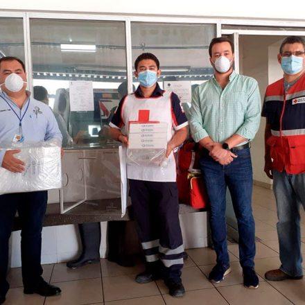 Dona IQX Biomédica cubos antiaerosoles a Cruz Roja Hermosillo para atención a pacientes con COVID-19