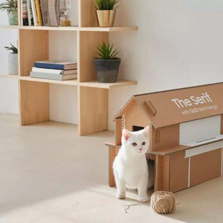 Las nuevas cajas Samsung podrán convertirse en casas para gatos y revisteros