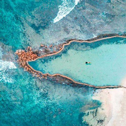 Conoce la maravillosa alberca natural de agua de mar en Punta Mita, Nayarit