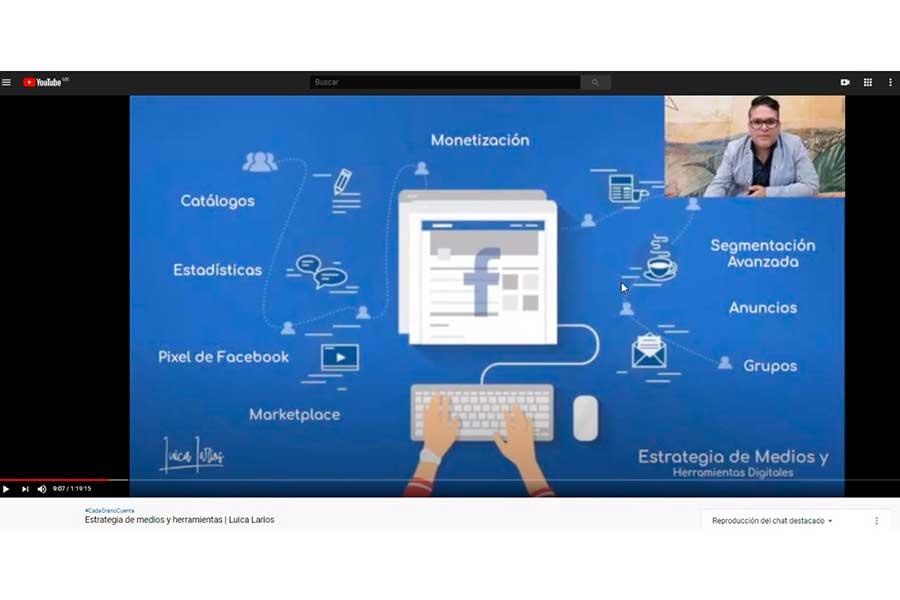 """Conocer medios digitales para proyectar negocios, contenido de """"Estrategia de Medios y Herramientas"""", sexta charla de Caffenio"""