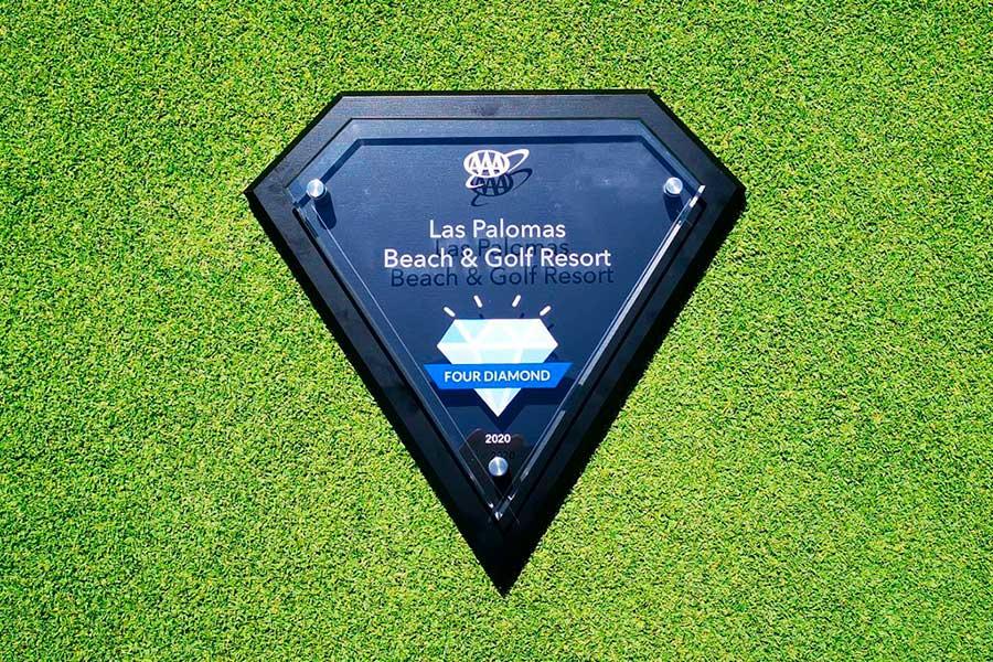 Recibe Las Palomas Beach & Golf Resort el Reconocimiento Resort 4 Diamantes de la AAA por treceavo año consecutivo