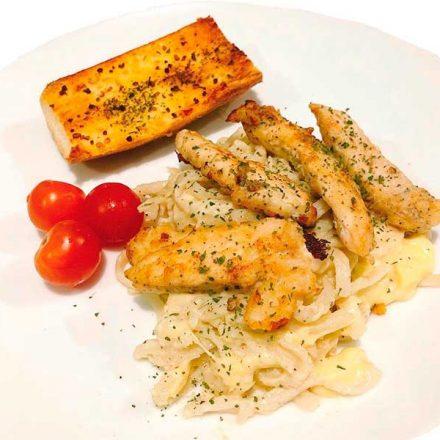 Receta: Pasta Alfredo con pollo
