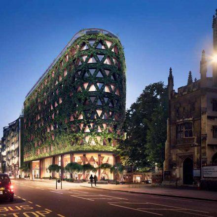 Arquitectura verde: Londres tendrá su primer hotel con paredes de jardín que absorberá 8 toneladas de CO2 al año