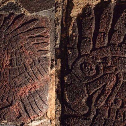 Descubren ancestral bajorrelieve de un águila real en el Templo Mayor