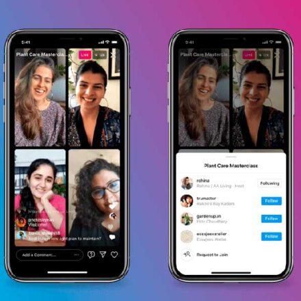 Instagram ya permite 'Directos' de hasta cuatro personas con nueva función 'Live Rooms'