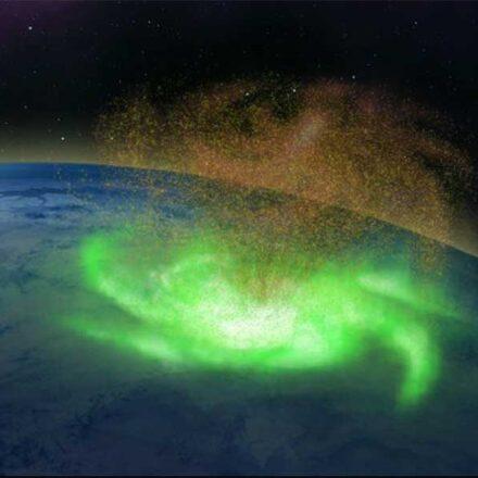 Científicos observan por primera vez un huracán espacial