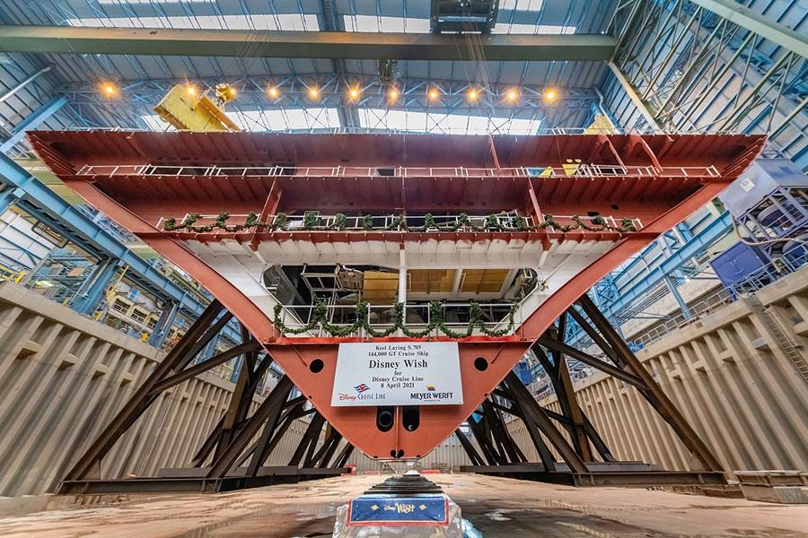 Inicia la construcción de Disney Wish, el nuevo crucero que zarpará en 2022