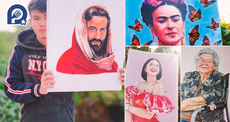 Daniel Sombra dibuja desde los 4 años en la Costa de Hermosillo, dejó de trabajar en el campo para hacer sus obras y cumplir el sueño de estudiar artes