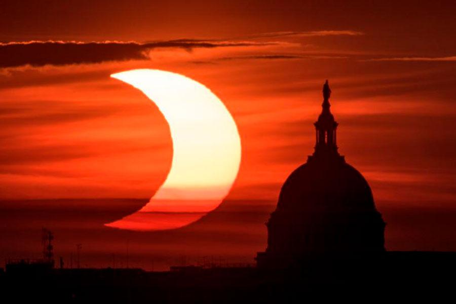 Las mejores fotos que dejó el eclipse 'Anillo de Fuego' 2021