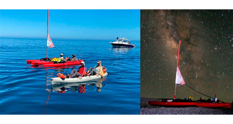 Equipo binacional cruza el Mar de Cortés en kayak