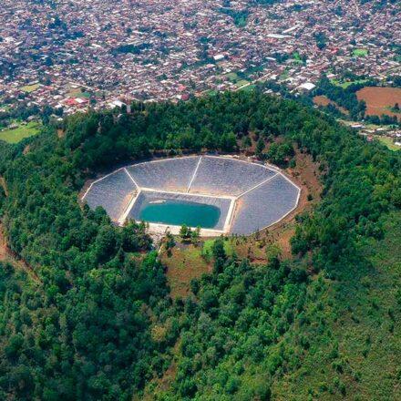 El captador de agua de lluvia más grande de América Latina está en Cherán, Michoacán